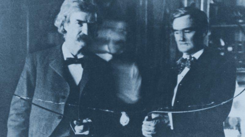 Nikola Tesla & Mark Twain